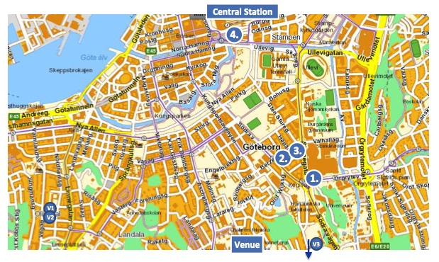 Gothenburg Travelling And Accommodation EACL - Sweden map gothenburg